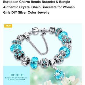 European Charm Bracelet Authentic Crystal Chain